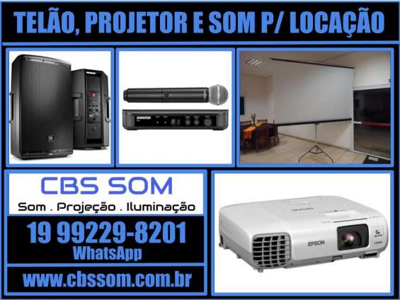 Telão/ projetor - alugar / locar - valinhos 19 99229-8291
